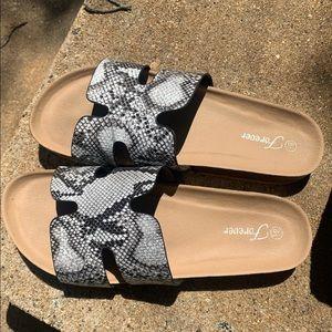 Brand new in box ! Snakeskin sandals !